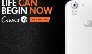 micromax canvas 4 pre booking begins in india...