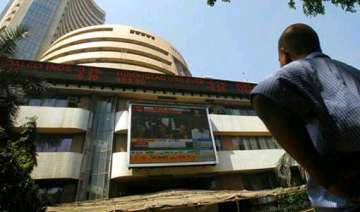 sensex closes flat after touching new high lead -...