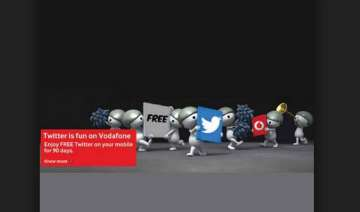 vodafone india offers free twitter access for...