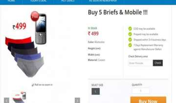 great deal buy 5 briefs rs 499 and get mobile...