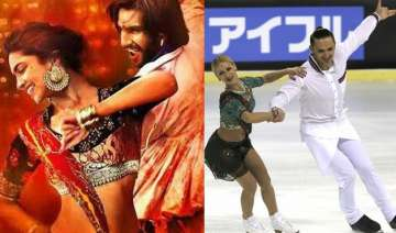 russian skaters win hearts with ranveer deepika s...