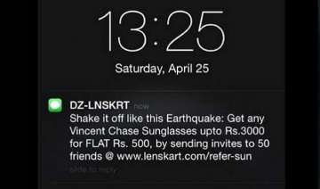 lenskart s jibe on nepal earthquake twitter...