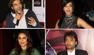 arjun shruti huma and irrfan spotted promoting d...