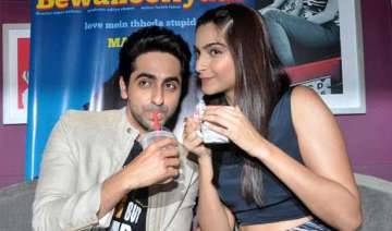 ayushmann sonam on a coffee date - India TV