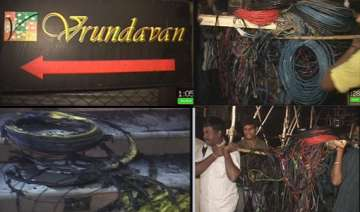 crores worth equipment gutted in vrindavan studio...