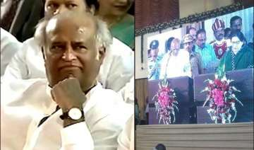 rajinikanth attends jayalalithaa s swearing in...