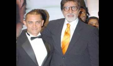 big b invites aamir khan for paa premiere - India...