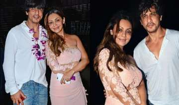 shah rukh khan gauri khan and abram s memorable...