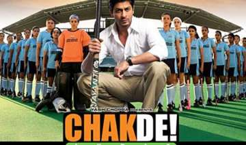 shah rukh khan s chak de india completes eight...