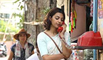 radhika apte goes smartly weird with sneakers on...
