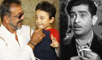 sanjay dutt s son to feature in remix of raj...