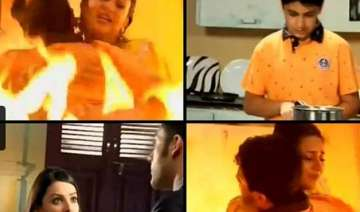 yeh hai mohabbatein ishita jumps in fire to save...