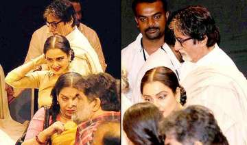 amitabh bachchan rekha avoid each other - India TV