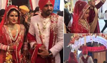 exclusive pics harbhajan singh marries geeta...