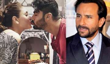 kareena arjun kiss saif ali khan reacts over his...