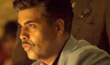 karan johar gets emotional due to his moustache...