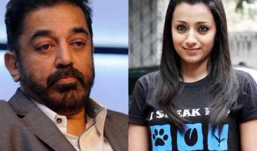 kamal haasan fights with co actor trisha krishnan...