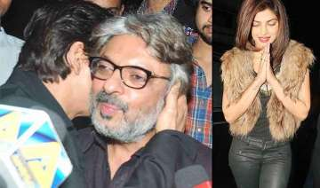 shah rukh khan kisses sanjay leela bhansali at...
