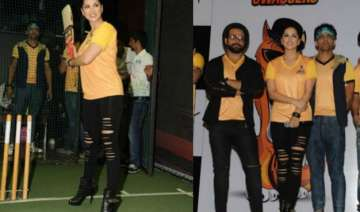 sunny leone launches her chennai swaggers squad...