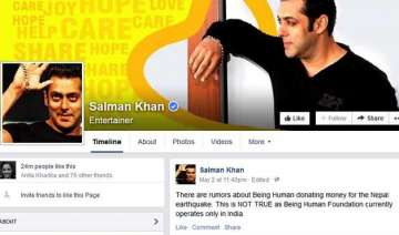 salman khan being human not donating for nepal...
