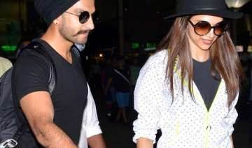 spotted ranveer and deepika kissing at the...