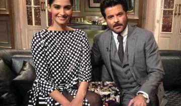 koffee with karan father daughter duo sonam and...