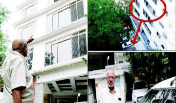 narrow escape for shyam benegal building glass...