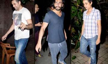 ranveer abhay spotted partying with zoya akhtar...