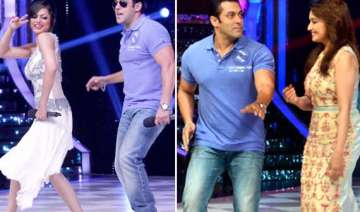 salman khan dances with madhuri on the sets of...