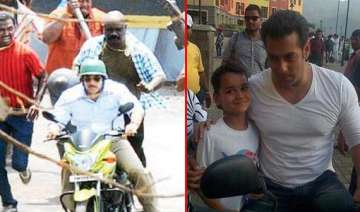 salman khan spotted on the sets of mental view...
