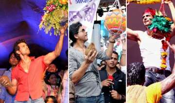 shah rukh hrithik arjun at dahi handi celebration...