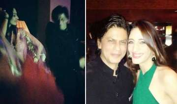 shah rukh khan danced with stars at eid party...