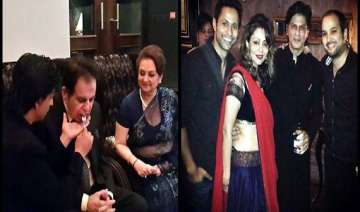 shah rukh khan fed dilip kumar at eid party view...