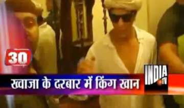 shah rukh khan performs prayers at ajmer sharif -...