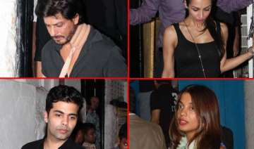 shahrukh karan malaika spotted partying at olive...