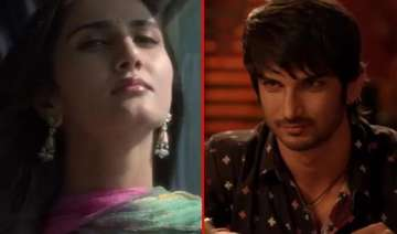 sushant singh rajput and vaani romance in the...