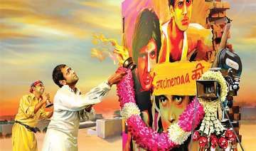 filmistaan movie review a sensitive issue served...