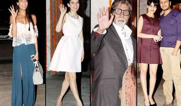 kangana ranaut birthday party amitabh aamir...