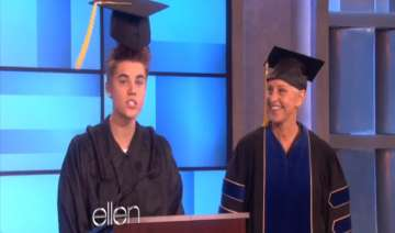 bieber s graduation ceremony with a twist - India...
