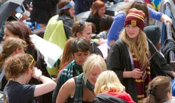 harry potter mania in london ahead of final...