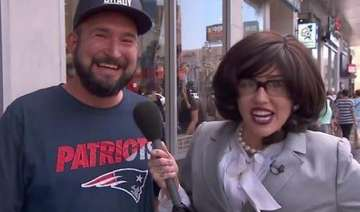 miley cyrus turns reporter to find out what...