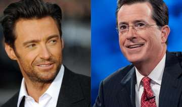 hugh jackman stephen colbert to host 2015 global...