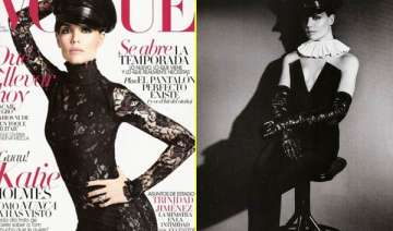 katie homes shows her racy side in vogue - India...