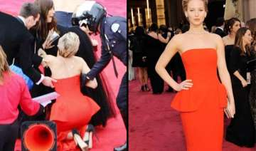 oscars 2014 jennifer lawrence trips again on the...
