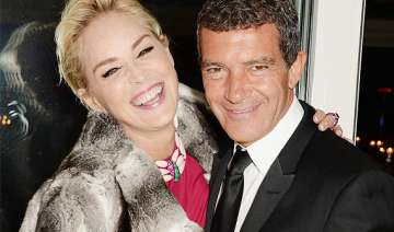 antonio banderas growing close to sharon stone -...