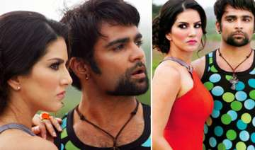 sunny leone spotted on the sets of jackpot view...