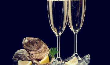 chilean wine and sea food in indian market see...