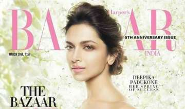 deepika sizzles on the cover of harper s bazaar -...