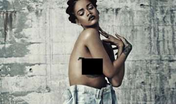 rihanna poses topless for magazine shoot - India...