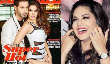 sunny leone poses hot with hubby daniel weber on...